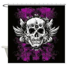 Grunge Skull Shower Curtain