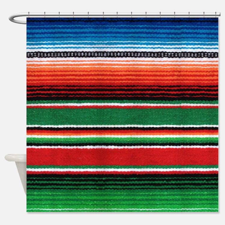 Mexican Serape Shower Curtain