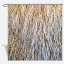 White Fur Shower Curtain
