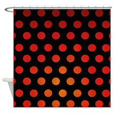 Fire Dots Shower Curtain