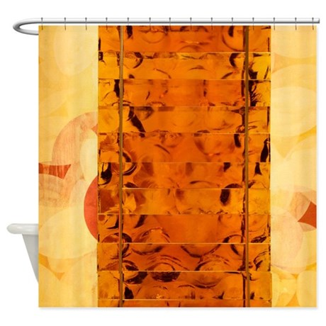 Orange Glass Shower Curtain By Thehomeshop