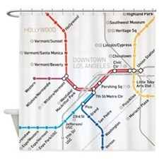LA Metro map Shower Curtain