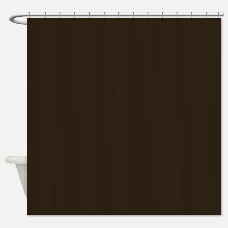 Dark Brown Shower Curtain