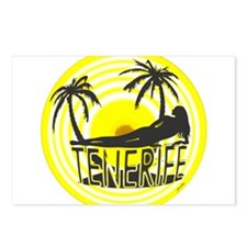 tenerife art illustration Postcards (Package of 8)