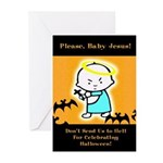 Baby Jesus Halloween Cards (Pack of 6)