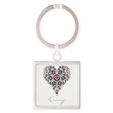 Love Lucy Square Keychain