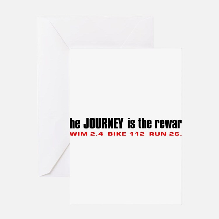 journey-is-the-reward-w Greeting Cards
