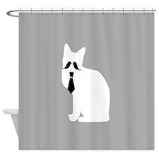Fancy Cat Alone Shower Curtain