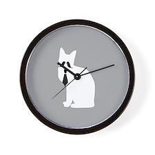 Fancy Cat Alone Wall Clock