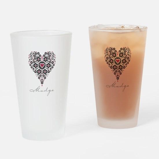Love Madge Drinking Glass