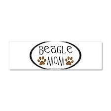 Funny Beagles Car Magnet 10 x 3