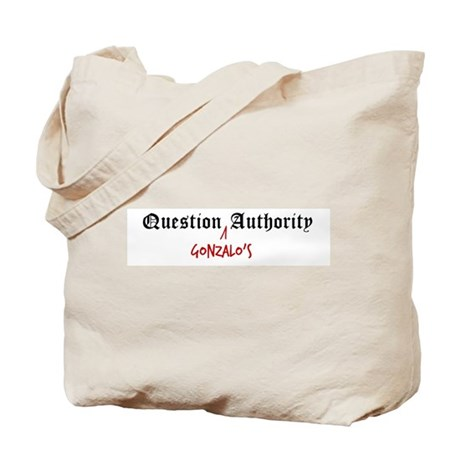 Question Gonzalo Authority Tote Bag