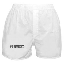 #1 Student Black Boxer Shorts