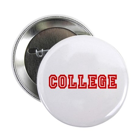 """COLLEGE Red 2.25"""" Button (10 pack)"""