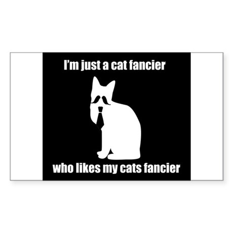 cat fancier 3 Sticker