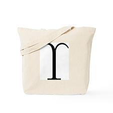 Greek Symbol Upsilon Tote Bag