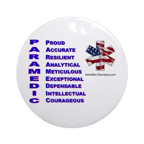 This Is A Paramedic Ornament (Round)