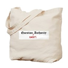 Question Emery Authority Tote Bag
