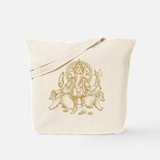 Gold Ganesha Tote Bag