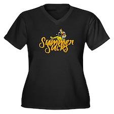 Summer Sucks/Mental Illness Women's Plus Size V-Ne