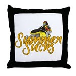 Summer Sucks/Mental Illness Throw Pillow
