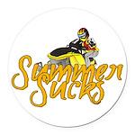 Summer Sucks/Mental Illness Round Car Magnet