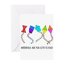 kite flying weekends Greeting Card