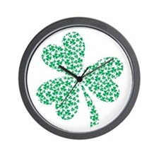 St Patricks Day Shamrock Wall Clock