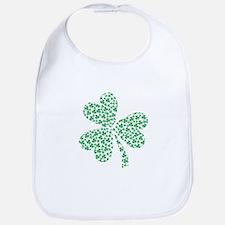 St Patricks Day Shamrock Bib