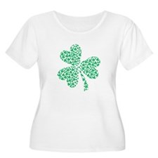 St Patricks Day Shamrock Plus Size T-Shirt