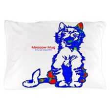Funny Hello Meoow Pillow Case