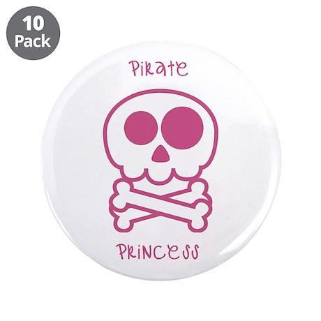 "pirate princess 3.5"" Button (10 pack)"