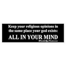 Mindless Mind Bumper Bumper Sticker