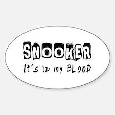 Snooker Designs Sticker (Oval)
