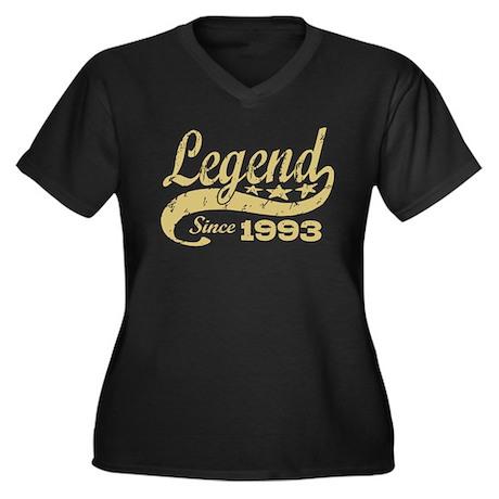 Legend Since 1993 Women's Plus Size V-Neck Dark T-