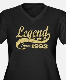 Legend Since 1993 Women's Plus Size V-Neck Dark T-