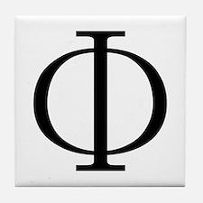 Greek Phi Golden Ratio Tile Coaster