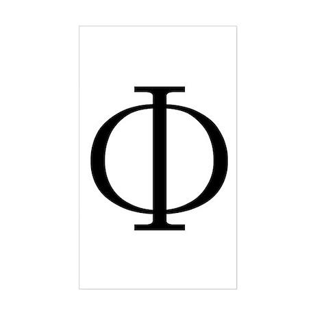 Greek Phi Golden Ratio Rectangle Sticker