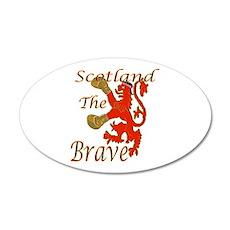 Scotland the Brave Boxing Wall Sticker