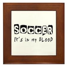 Soccer Designs Framed Tile