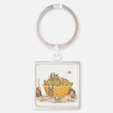 Nutty Friends Square Keychain