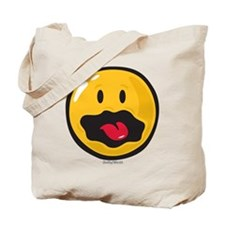 scared smiley Tote Bag