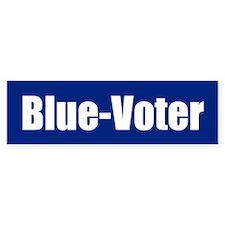BLUE-VOTER Bumper Bumper Sticker