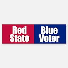 RED STATE BLUE VOTER Bumper Bumper Bumper Sticker