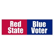 RED STATE BLUE VOTER Bumper Bumper Sticker