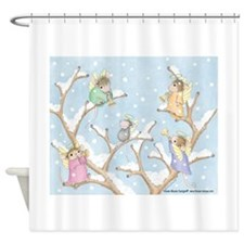 Angels Up High Shower Curtain