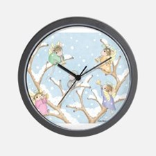 Angels Up High Wall Clock