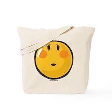 Timid smiley Tote Bag