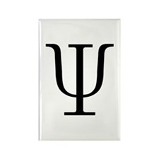 Greek 23rd Letter Psi Rectangle Magnet