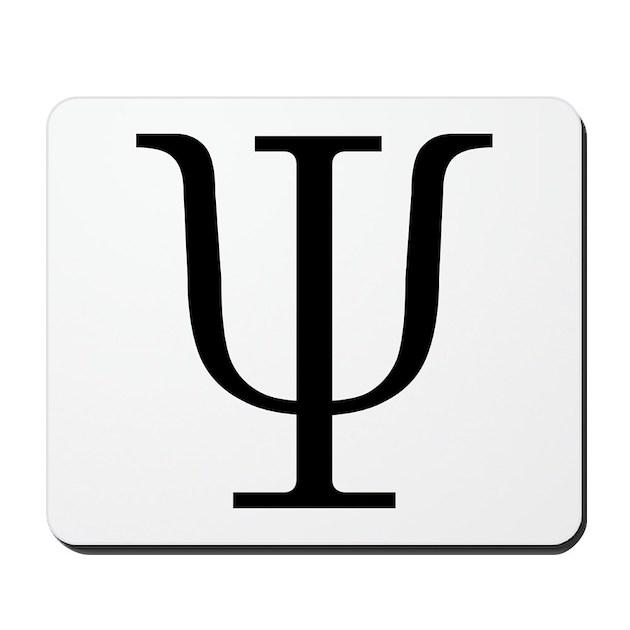 Greek 23rd Letter Psi Mousepad by symbolsonstuff